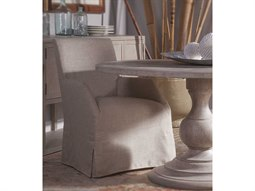 Home Fiona Natural Khaki Dining Arm Chair with Slipcover