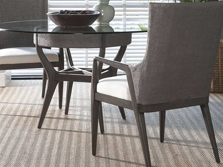 Artistica Home Formosa Metallic Gray Dining Arm Chair