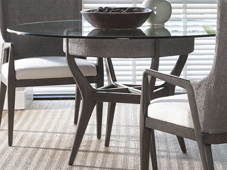 Artistica Home Formosa Metallic Gray 56'' Wide Round Dining Table ATS207587056C