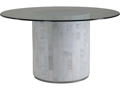 Artistica Home Greta Glass with Light Gray Onyx 56'' Wide Round Dining Table ATS208087056C