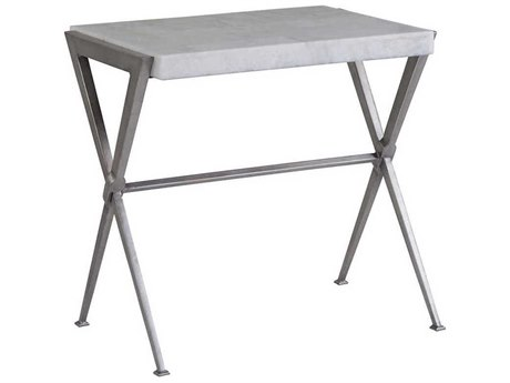 Artistica Home Greta Light Gray Onyx with Dark Iron 26''L x 18''W Rectangular End Table