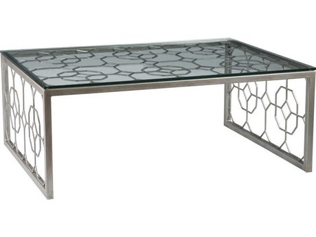 Artistica Home Honeycomb 50''L x 34''W Rectangular Cocktail Table