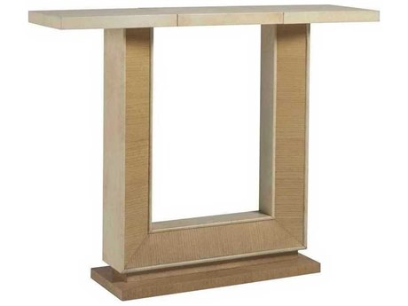 Artistica Lilt Ivory / Brown 48'' Wide Rectangular Console Table