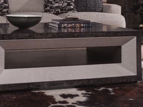 Artistica Mantra True Parchment / Light Gray 48'' Wide Rectangular Coffee Table
