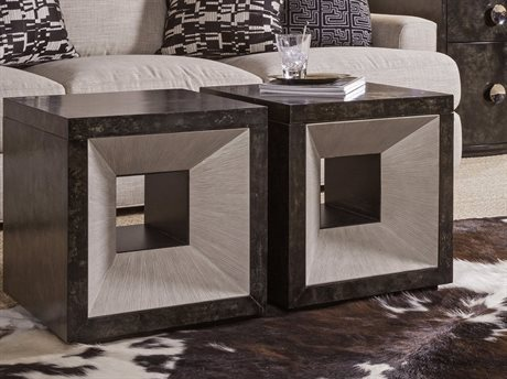Artistica Mantra True Parchment / Light Gray 18'' Wide Square End Table ATS2071959