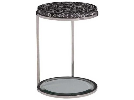 Artistica Mariana Black / Polished 16'' Wide Round End Table