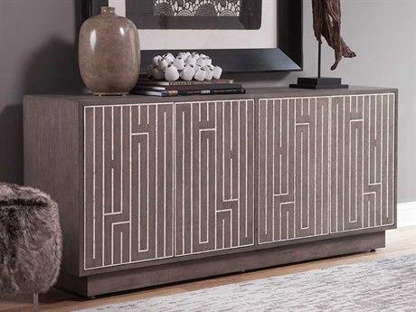 Artistica Home Mercury Oak with Inlaid White Capiz Shell 67''L x 18''W Rectangular Media Credenza ATS2026907