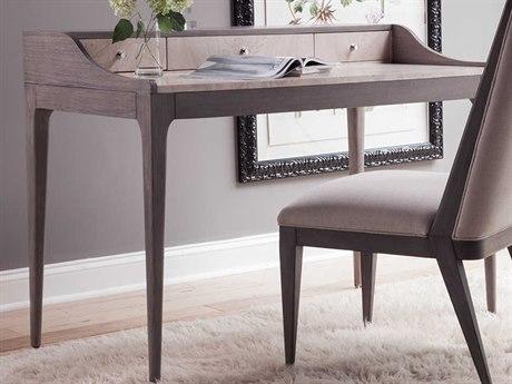 Artistica Home Mercury Bleached Olive Ash Burl with White Oak 48''L x 26''W Rectangular Computer Desk ATS2025933