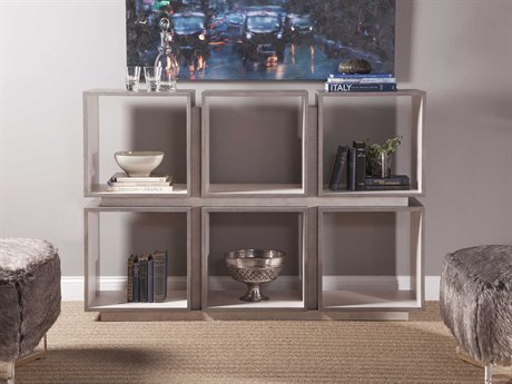 Artistica Home Mercury Oak with Bleached Olive Ash Burl Six-Cube Etagere ATS2025990