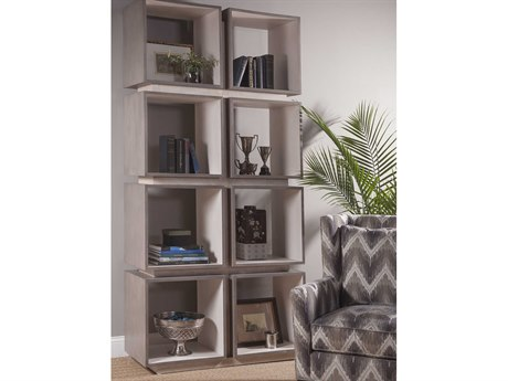Artistica Home Mercury Oak with Bleached Olive Ash Burl Eight-Cube Etagere ATS2025991C