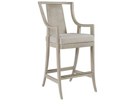 Artistica Mistral Natural Greige / Bianco Arm Bar Height Stool ATS20968964001