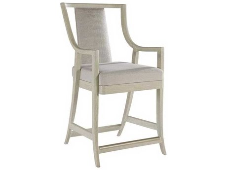 Artistica Mistral Natural Greige / Bianco Arm Counter Height Stool ATS20968954001