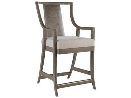 Artistica Mistral Natural Greige / Grigio Arm Counter Height Stool ATS20968954101