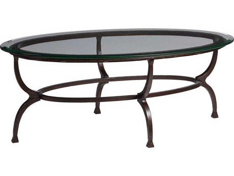 Artistica Patios Antique Copper 48'' Wide Oval Coffee Table