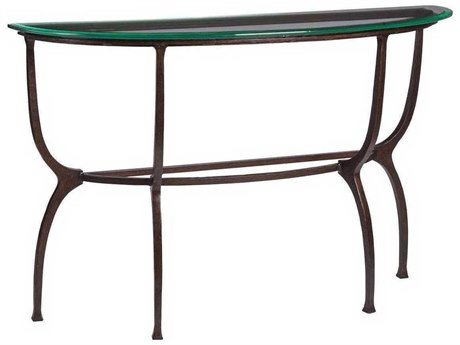 Artistica Patios Antique Copper 54'' Wide Demilune Console Table ATS201496643