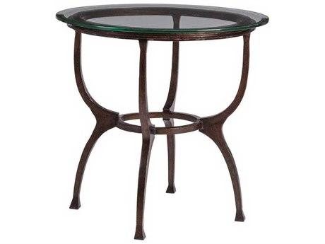 Artistica Patios Antique Copper 26'' Wide Round End Table ATS201495343