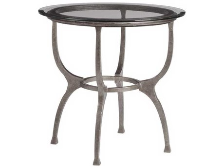 Artistica Patios Argento 26'' Wide Round End Table ATS201495346