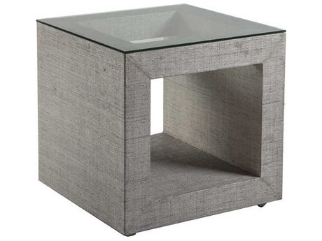 Artistica Home Precept Light Gray 25'' Wide Square End Table