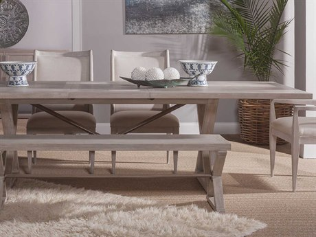 Artistica Home Ringo Bianco 88''-110''L x 44''W Rectangular Extension Dining Table