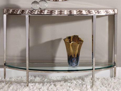 Artistica Sulu White Resin 54'' Wide Demilune Console Table ATS2064967