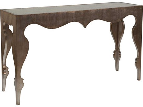 Artistica Home Van Cleef Antiqued Mirror with Brushed Silver Leaf 62''L x 18''W Rectangular Console Table ATS2059966