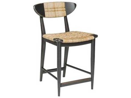 Artistica Viggo Woven / Painted Black Side Counter Height Stool ATS210289501
