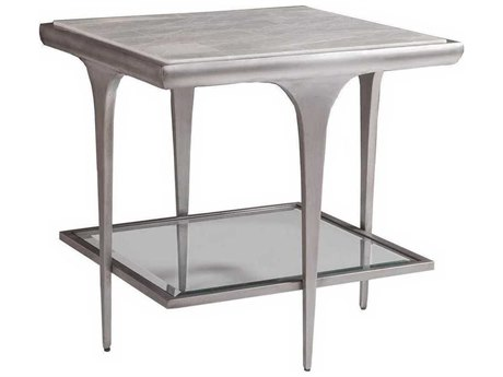 Artistica Zephyr White 25'' Wide Square End Table ATS2097957