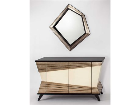 Artmax Modern Sideboard with Wall Mirror Set