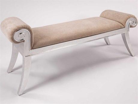 Artmax Silverleaf / Beige Accent Bench