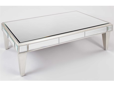 Artmax Silverleaf / Champagne 54'' Wide Rectangular Coffee Table AMX4422CF