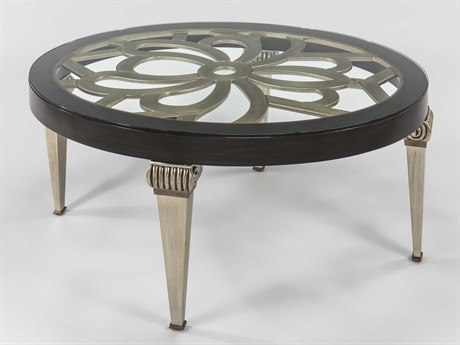 Artmax Espresso / Champagne 50'' Wide Oval Coffee Table AMX4467CF