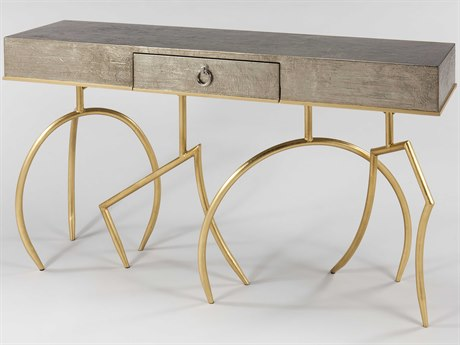 Artmax Soft Silverleaf / Goldleaf 60'' Wide Rectangular Console Table AMX4468D