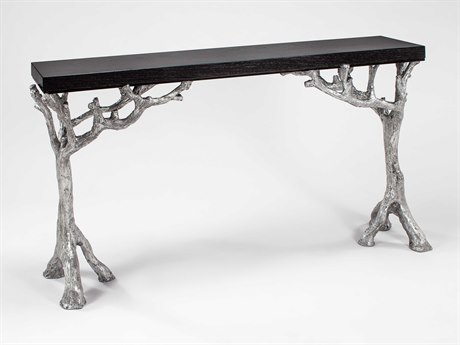 Artmax Black / Silverleaf 62'' Wide Rectangular Console Table AMX4489D