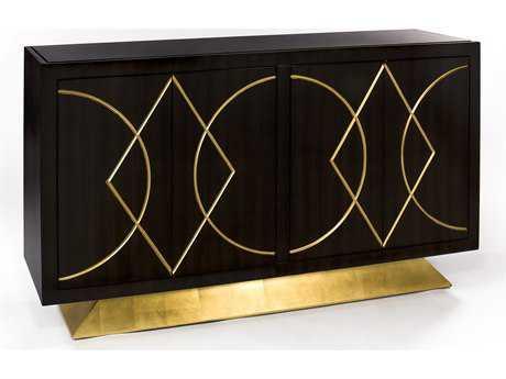 Artmax 64.5 x 38 Faux Walnut Credenza Cabinet AMX4448S