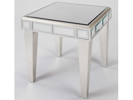 Artmax Silverleaf / Champagne 24'' Wide Square End Table AMX4422ET