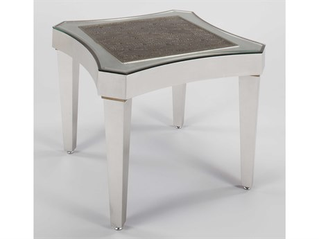 Artmax Silverleaf / Champagne 26'' Wide Square End Table AMXX1020ET