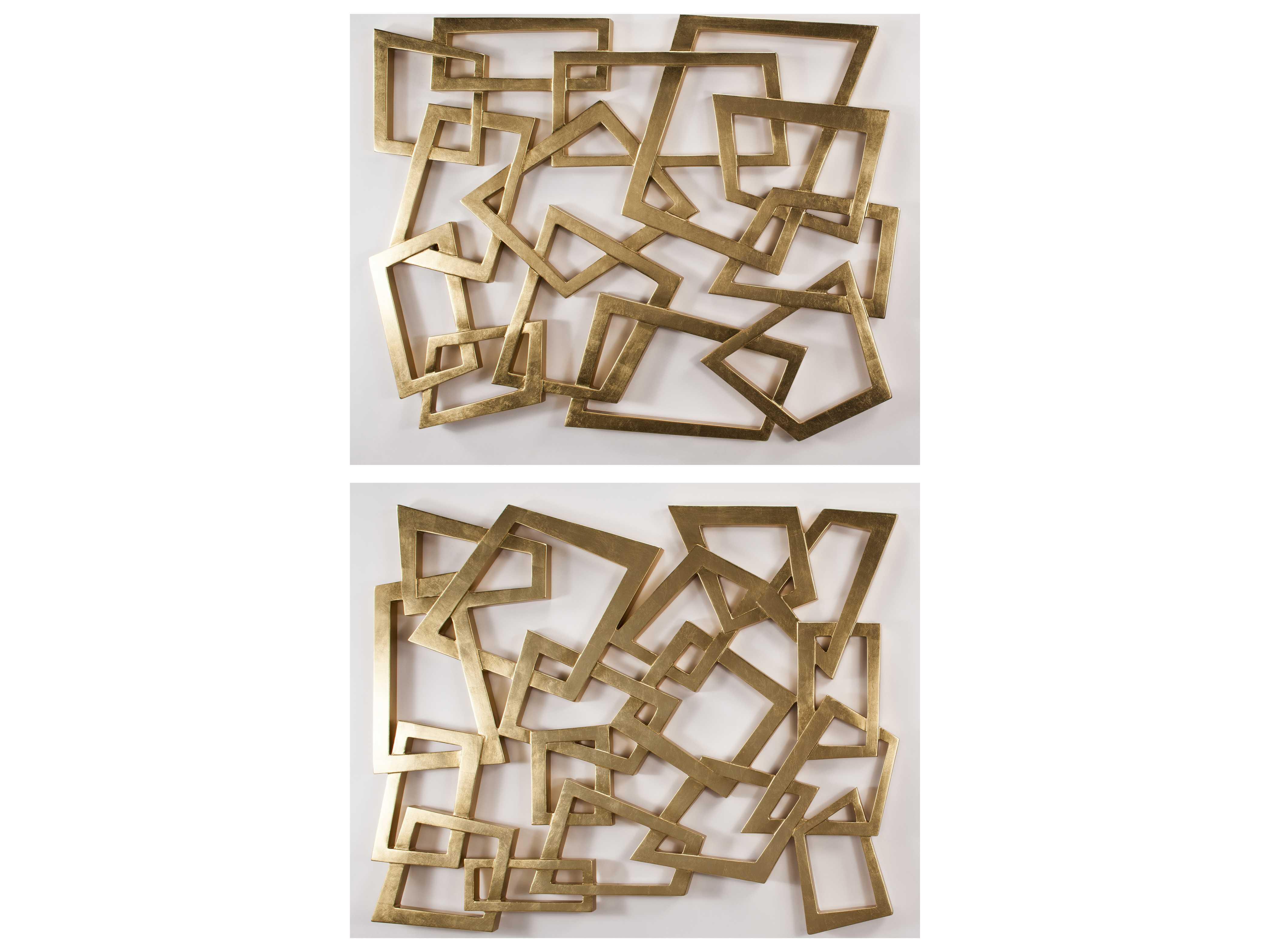 Artmax 56 x 46 Gold Leaf Metal Wall Art (2 Piece Set ...