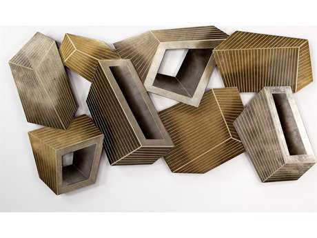 Artmax 73 x 40 Metallic Tone Metal Wall Art AMX4427PL