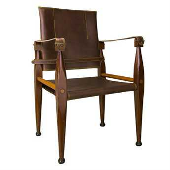 Authentic Models Bridle Leather Campaign Chair A2MF122