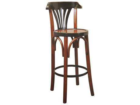 Authentic Models Furniture De Luxe Grand Hotel Honey & Black Bar Stool A2MF044A