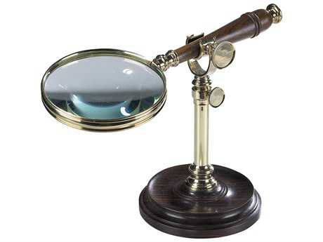 Authentic Models Nautical Brass Magnifying Glass with Stand (Sold in Set of Two)