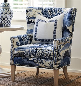 Barclay Butera Avery Wing Accent Chair (Custom Upholstery) BCB553011
