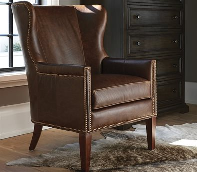 Barclay Butera Avery 9615-71 Leather Accent Chair BCB553011LL