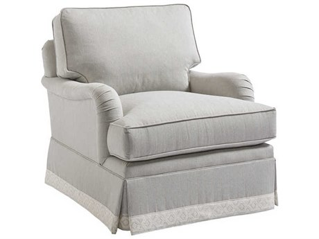 Barclay Butera Blaire Gray Skirted Club Chair (Custom Upholstery) BCB510011