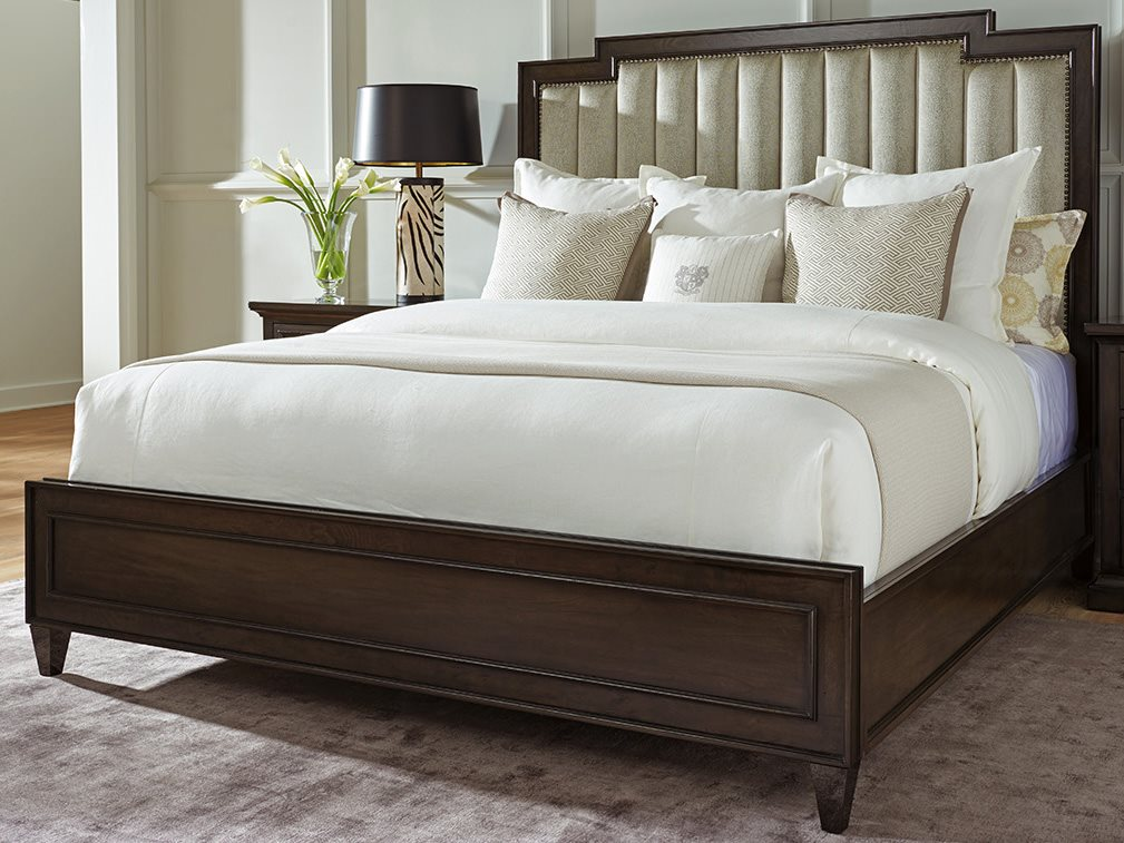 Barclay Butera Brentwood Candice Channeled Wilshire 4236 71 Queen Panel Bed As Shown Bcb915143c