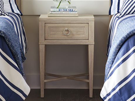 Barclay Butera Newport Clay Sailcloth One-Drawer 20'' x 18'' Night Table