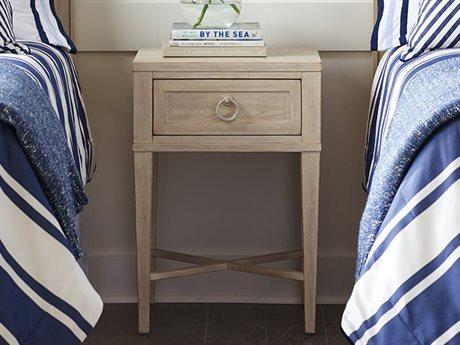 Barclay Butera Newport Clay Sailcloth One-Drawer 20'' x 18'' Night Table BCB921622