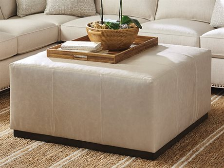 Barclay Butera Clayton 9004-11 Leather Cocktail Ottoman