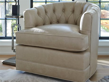 Barclay Butera Cliffhaven 9004-11 Leather Swivel Accent Chair
