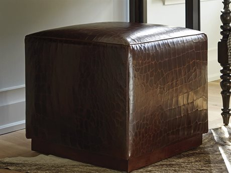 Barclay Butera Colby 9609-71 Leather Ottoman BCB545445LL